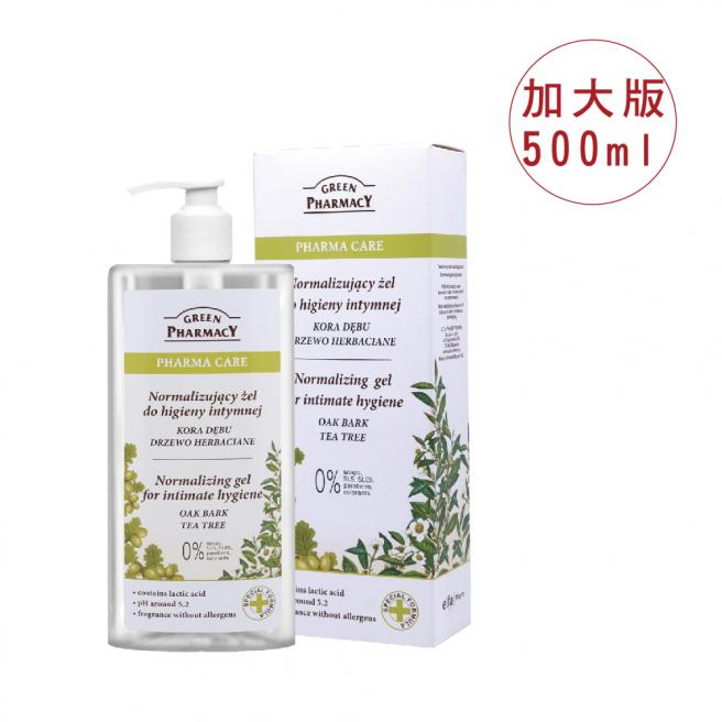 Green Pharmacy草本肌曜 茶樹平衡水嫩私密潔膚露500ml (加大版)